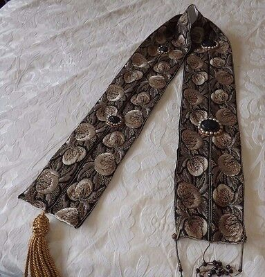 Vintage Victorian Hand Embroidered Wall Hanging  - Unusual