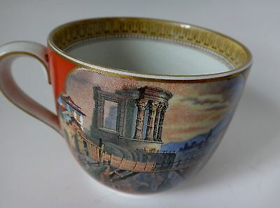 Antique 19th cent. PRATT ware cup marked Partt 123 Fenton Bridge & Cattle scenes
