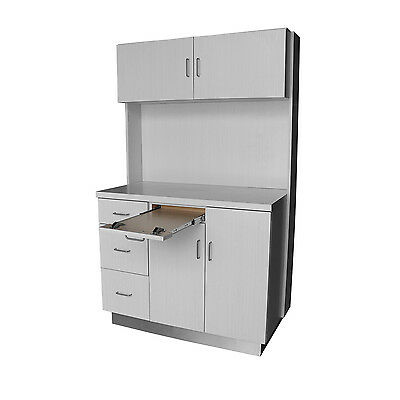 12 O'Clock Dental Cabinet - Real Wood - White Vapor Strandz NEW - READY TO SHIP