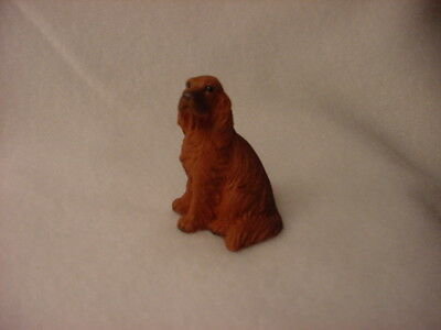 IRISH SETTER puppy TiNY DOG Resin Figurine MINIATURE Collectible Mini Statue NEW