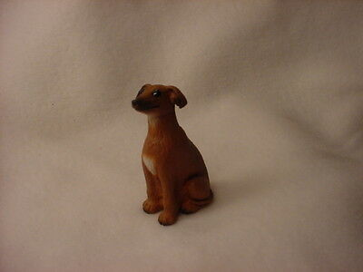 ITALIAN GREYHOUND puppy TiNY dog FIGURINE resin PAINTED MINIATURE Mini Statue