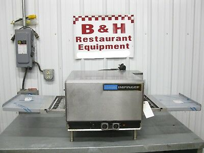 "Lincoln Impinger 16"" Short Belt Conveyor w/ Extension Trays Pizza Sub Oven 1301"
