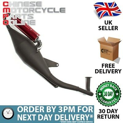 49cc Scooter Black Exhaust System for BT49QT-20BB (EXSTMCMP027)