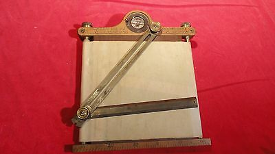 Rare Antique Surveyor's Field Tablet With Adjustable Rule-Direction Indictor-K&e