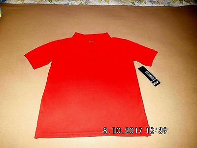 Boys 6-7 Red School Uniform Polo Style Shirt, George Brand, NWT