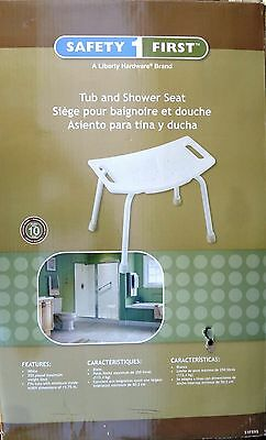 """NEW Bath White Tub and Shower Seat """"Safety 1 First"""""""