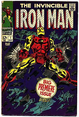 IRON MAN #1 VG, Stan Lee, Gene Colan, Marvel Comics 1968
