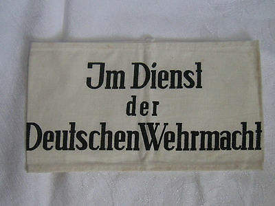 """WW2 """"In the Service of German Wehrmacht"""" Armband"""