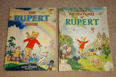 1940's RUPERT THE BEAR ANNUALS X 2, PUBLISHED BY THE DAILY EXPRESS, EXC' COND'N