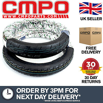Pair of Tyres 2.75-18 90/90-18 for YBR125 XS125 (TYRE001)