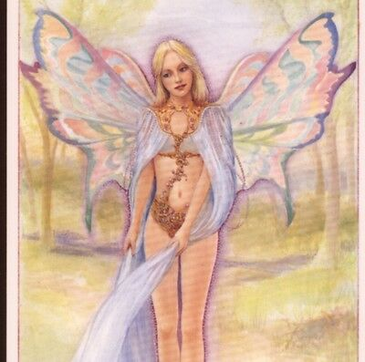 """""""orchard Fairy"""" In Flowing Gown With Irredescent Butterfly Wings,willis Postcard"""