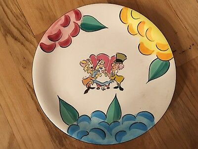 Walt Disney Alice in Wonderland 10u201d Dinner Plate & DISNEY MICKEY MOUSE Dinner Plates 10