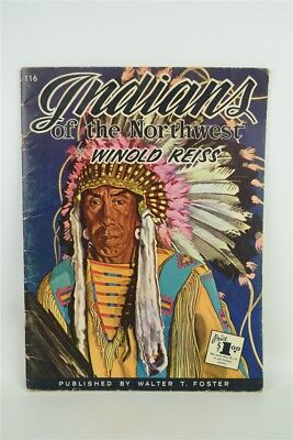 """Vintage 1960s """"Indians of the Northwest"""" by Winold Reiss Large Art Print Book"""