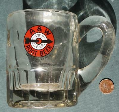 1950s Era A&W Root Beer HEAVY MEDIUM sized root beer stein-VINTAGE Bullseye logo