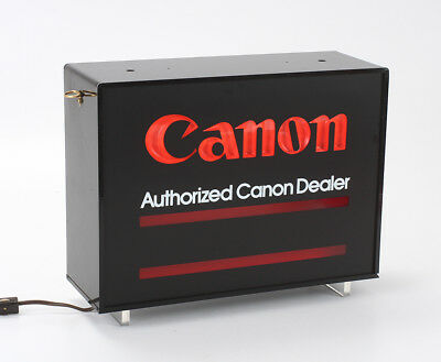 Canon Lighted Dealer Sign, Double Sided, Roughly 14.5 Inches Long/197259