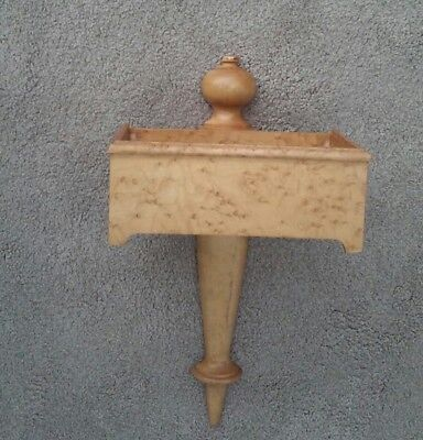 Vintage Solid Birds Eye Maple Wall Pocket Box Antique Reproduction as is w loss