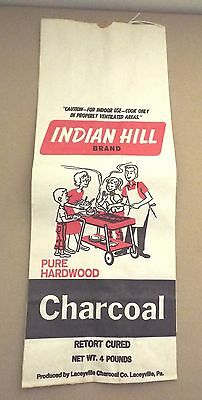 LACEYVILLE, PA LACEYVILLE CHARCOAL CO. INDIAN HILL CHARCOAL 4 LB BAG UN-USED b