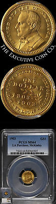 1903 Louisiana Purchase McKinley Commemorative Gold $1 PCGS MS64 Nice Strike