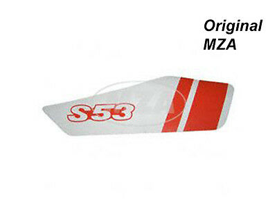 Simson Adhesive Foil for Side Cover Right - White/Red - S53 Moped mokick Top