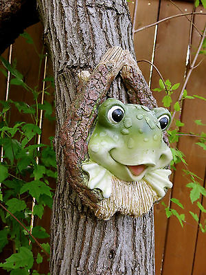 Frog Tree Knot Yard Decor Resin Tree Ornament FigurineDECOR NEW