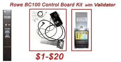 Rowe BC100 dollar bill changer board upgrade Kit to Mars MEI bill acceptor