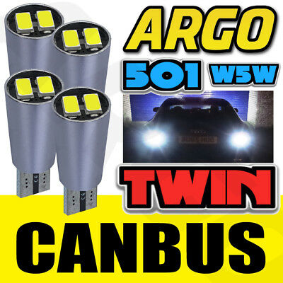 FIESTA MK6 ST 02-08 BRIGHT CANBUS LED SIDE LIGHT 501 W5W T10 13 SMD BLUE BULBS