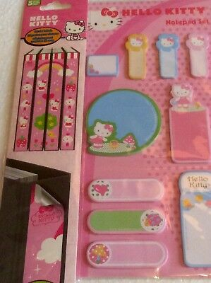 HELLO KITTY Removable Binder Labels - Mini Notepad Paper -Back 2 School Supplies