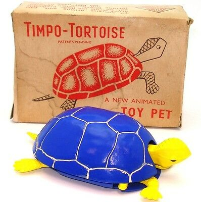 Timpo Push 'n' Go Tortoise - A/mint & Boxed - Rare