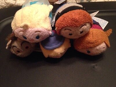 """Frozen Disney Mini Tsum -3 1/2""""  New With Tags Lot Of 5 From Target"""