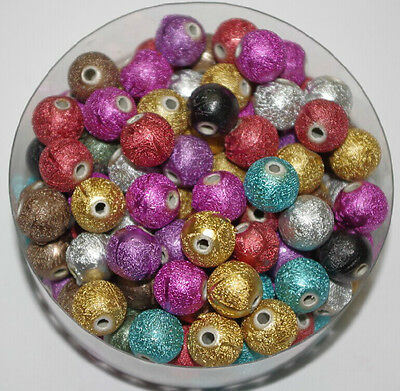 25pcs Acrylic Bead STARDUST Metallic Glitter Beads DIY Interval bead 12mm DF156