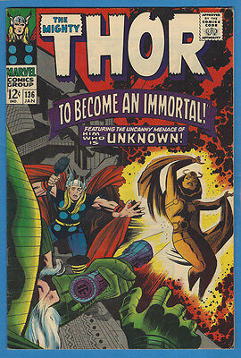 Thor 136 Very Fine- 1967 Marvel Stan Lee Jack Kirby 1st  App. Adult Lady Sif