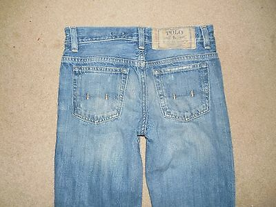 """Polo Ralph Lauren Boys Youth Jeans Size 26"""" Waist Blue Used Cotton"""