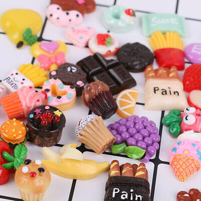 10/50X Simulation Food Flat Back Resin DIY Mobile Phone Case Decoration Cosmetic
