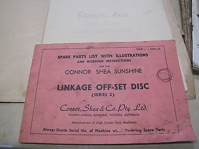 Connor Shea Sunshine Linkage Off Set Disc & Super Seeder