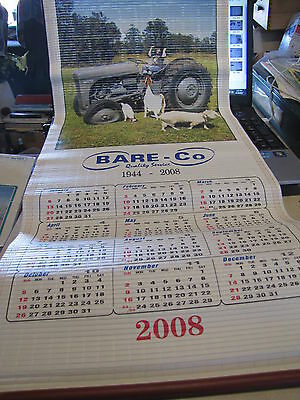 Calender 2008 Bare & Co Fergy Tractor Case John Deere