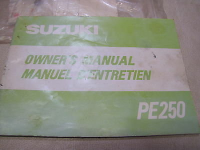 Suzuki Pe 250 Owners Manual