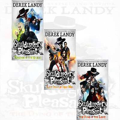 Skulduggery Pleasant 7 9 3 Books Collection Set Dying Of The Light