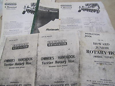 Howard Rotavator And Rotary Hoe Info Books And Pamphplets
