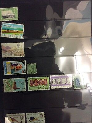 St Lucia, St Helena, St Vincent And British Honduras Stamps