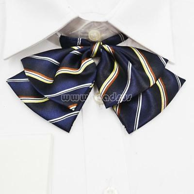 Women Japanese Lolita JK School Uniform Embroidery Bow Tie Hand Made Bowtie