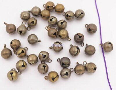 Small 10mm*13mm Brass Color Metal Jingle Bells for Christmas Tree Wreaths