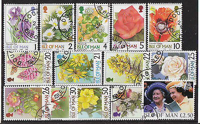 Isle Of Man 1998 Definitive Set Of 14 Fine Used