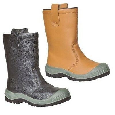 Portwest Rigger Scuff Cap Safe Work Boot Shoe Steel Toe Cap Lined Size 4-13 FW13