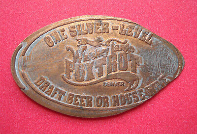 Whiskey Tango Foxtrot elongated penny Denver CO USA cent WTF souvenir coin