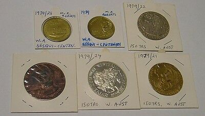 1979 WA Sesquicentenary, six medals & medallions of the event.