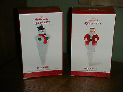 Hallmark Ornaments Lot of 2 ~COOL ICICLES~ 1ST & 2ND IN THE SERIES.        (2016