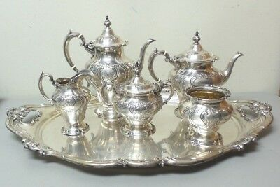 Gorham CHANTILLY DUCHESS 6-PC Sterling Silver Coffee / Tea Service