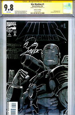 CGC SS 9.8 SIGNED Bob Layton War Machine 1 Iron Man Marvel Comics Collectors Edt