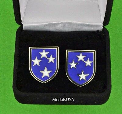U.S. ARMY 23rd DIVISION Cuff Links & Gift Box Cufflinks  Americal USA