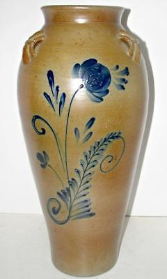 "Rowe Art Pottery Works Salt Glaze 2006 21"" Vase Limited Edition Collection RARE!"